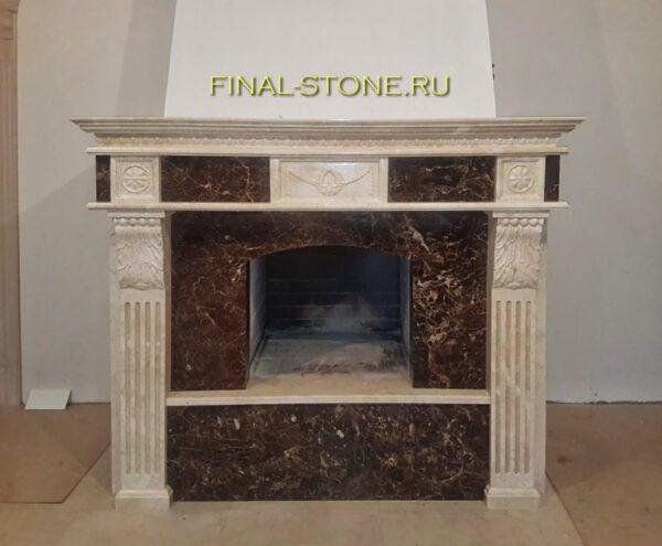 Камин из натурального камня